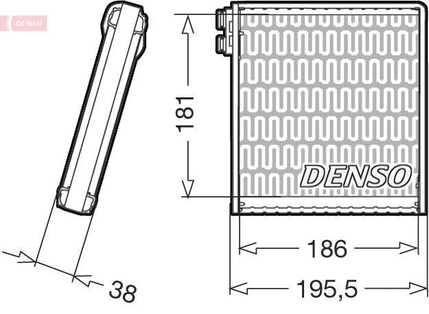 Original RENAULT Verdampfer Klimaanlage DEV09103