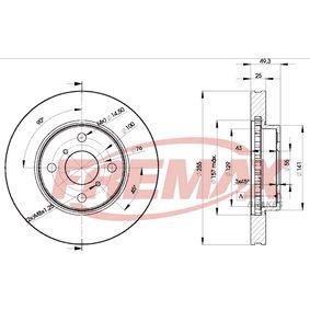 BD-2100 FREMAX Premium Black Carbon +, Vorderachse, Innenbelüftet, teilbeschichtet Ø: 255,5mm, Bremsscheibendicke: 25mm Bremsscheibe BD-2100 günstig kaufen