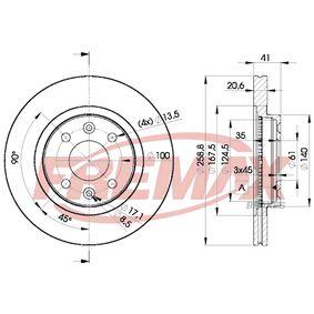 BD-3550 FREMAX Premium Black Carbon +, Vorderachse, Innenbelüftet Ø: 259mm, Bremsscheibendicke: 20,6mm Bremsscheibe BD-3550 günstig kaufen