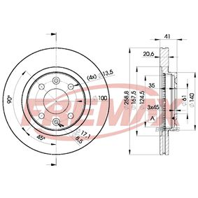 BD3550 Bremsscheibe FREMAX BD-3550 - Große Auswahl - stark reduziert