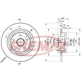 BD-4108 FREMAX Premium Black Carbon +, Hinterachse, Voll, mit integriertem magnetischen Sensorring, mit integriertem Radlager Ø: 300mm, Bremsscheibendicke: 11mm Bremsscheibe BD-4108 günstig kaufen