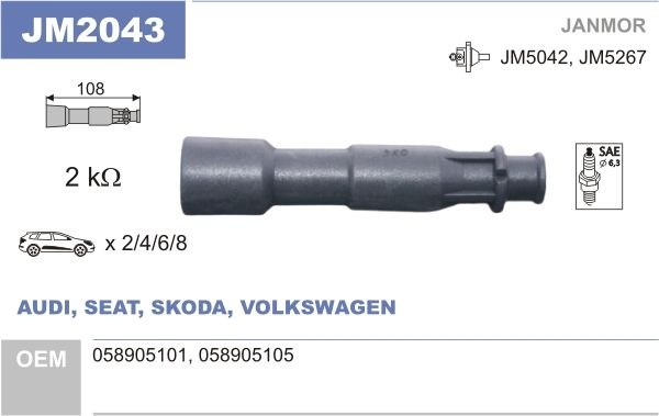 JANMOR: Original Zündkerzenstecker JM2043 ()