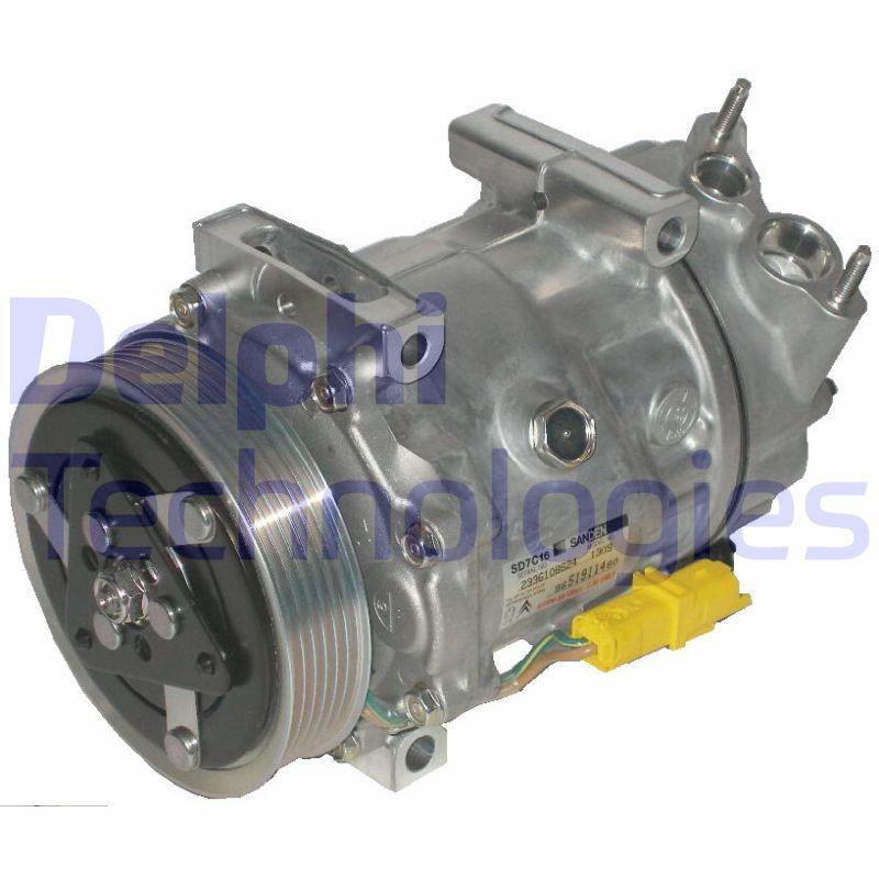 TSP0155474 DELPHI PAG 46, mit PAG-Kompressoröl Riemenscheiben-Ø: 119mm Klimakompressor TSP0155474 günstig kaufen