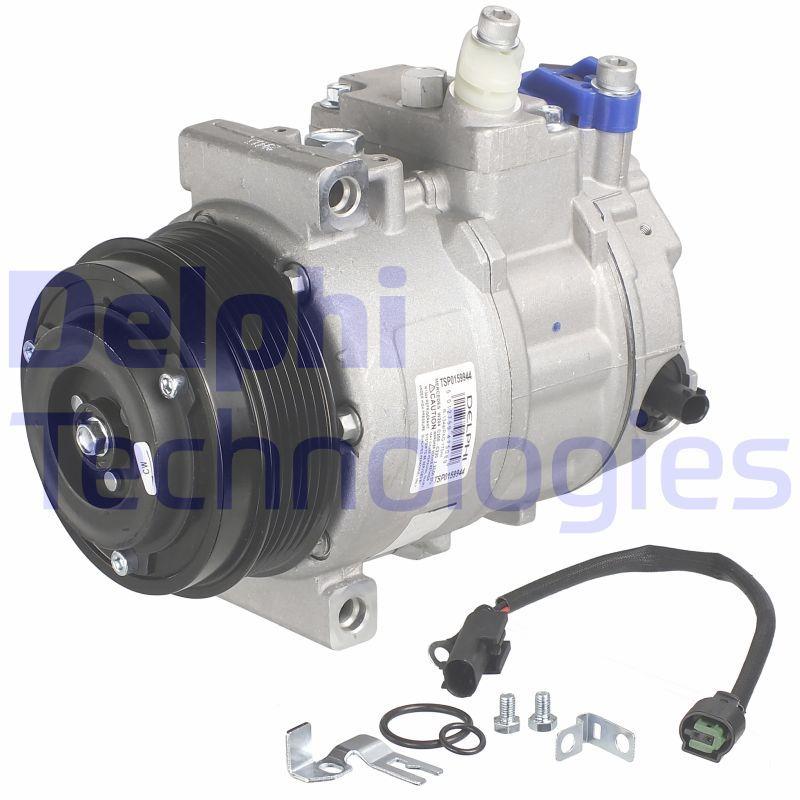 TSP0159944 DELPHI PAG 46, mit PAG-Kompressoröl Riemenscheiben-Ø: 110mm Klimakompressor TSP0159944 günstig kaufen