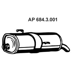 Endschalldämpfer EBERSPACHER 684.3.001