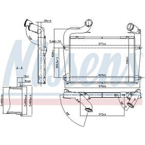 Ladeluftkühler NISSENS 97061 mit 15% Rabatt kaufen