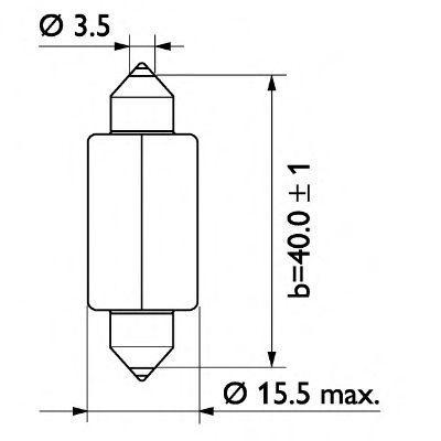 13807CP Glühlampe, Kennzeichenleuchte PHILIPS GOC48294528 - Große Auswahl - stark reduziert