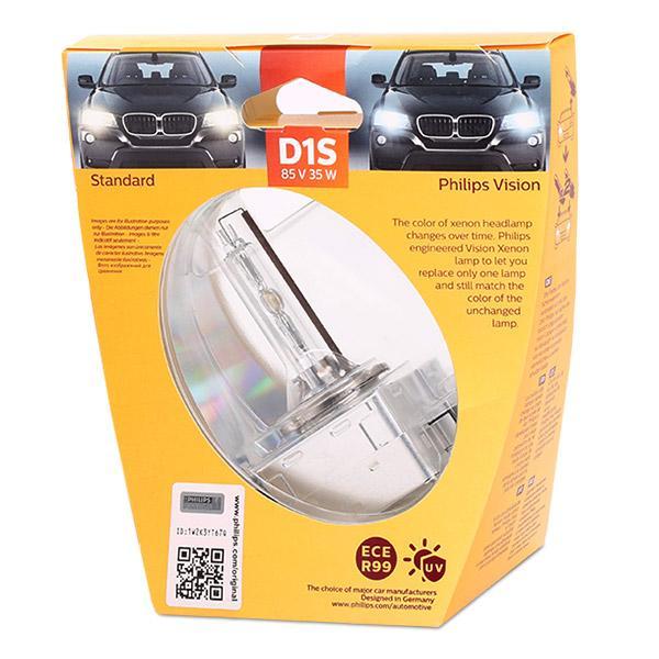 36489733 PHILIPS Xenon Vision D1S (Gasentladungslampe) 85V 35W Pk32d-2 4600K Xenon Glühlampe, Fernscheinwerfer 85415VIS1 günstig kaufen