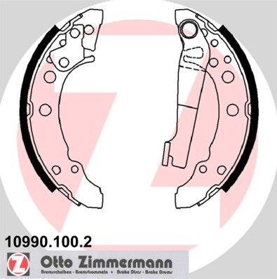 10990.100.2 ZIMMERMANN mit Hebel, ohne Zubehör Breite: 31mm Bremsbackensatz 10990.100.2 günstig kaufen