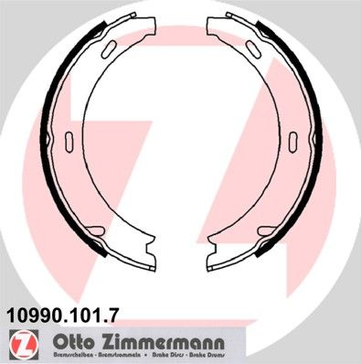 ZIMMERMANN Bremsbackensatz 10990.101.7