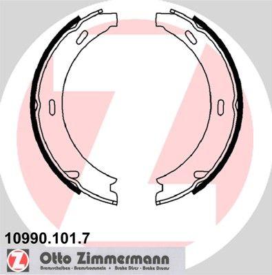 10990.101.7 ZIMMERMANN Foto entspricht Lieferumfang Breite: 20mm Bremsbackensatz, Feststellbremse 10990.101.7 günstig kaufen