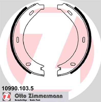 ZIMMERMANN Bremsbackensatz, Feststellbremse 10990.103.5