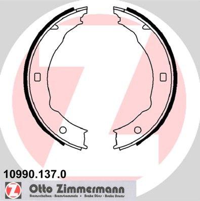 ZIMMERMANN Bremsbackensatz, Feststellbremse 10990.137.0