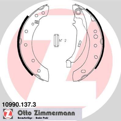 RENAULT TWINGO 2019 Handbremse - Original ZIMMERMANN 10990.137.3 Breite: 39mm