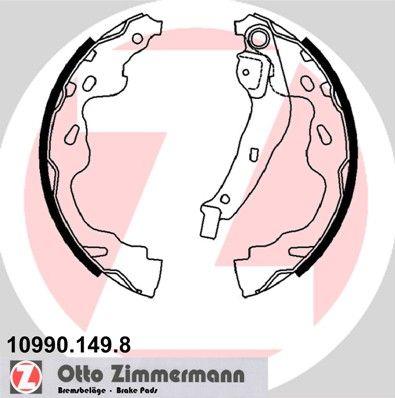 10990.149.8 ZIMMERMANN mit Hebel, ohne Zubehör Breite: 32mm Bremsbackensatz 10990.149.8 günstig kaufen