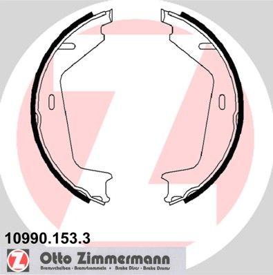 10990.153.3 ZIMMERMANN ohne Zubehör Breite: 25mm Bremsbackensatz, Feststellbremse 10990.153.3 günstig kaufen