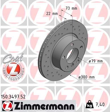 ZIMMERMANN Bremsscheibe 150.3497.52