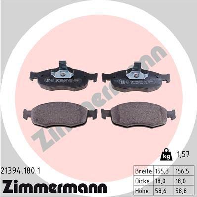 Bremsbeläge ZIMMERMANN 21394.180.1