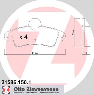 Bremsbelagsatz ZIMMERMANN 21586.150.1