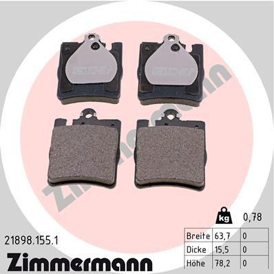 21898.155.1 Bremssteine ZIMMERMANN in Original Qualität
