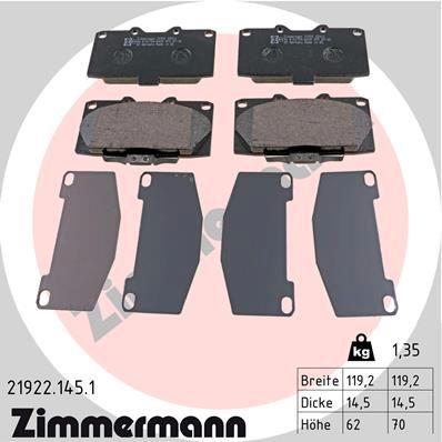 Bremsbelagsatz ZIMMERMANN 21922.145.1