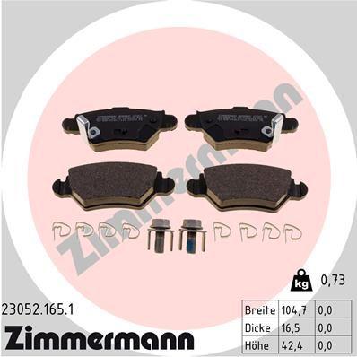 Bremsbelagsatz ZIMMERMANN 23052.165.1
