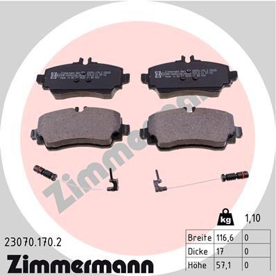 Bremsklötze ZIMMERMANN 23070.170.2