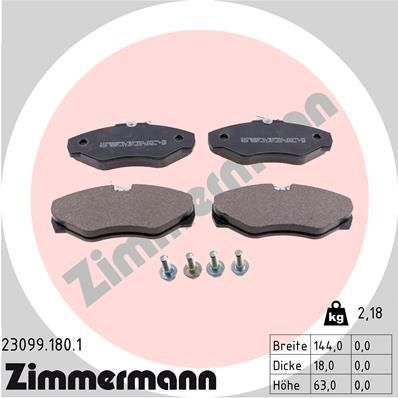 Bremsklötze ZIMMERMANN 23099.180.1