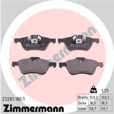 Original MINI Bremsbelagsatz Scheibenbremse 23281.180.1