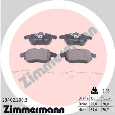 Bremssteine ZIMMERMANN 23402.200.3