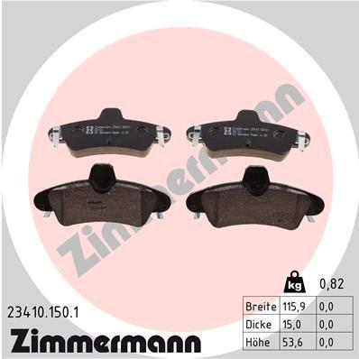 Bremsbelagsatz Scheibenbremse ZIMMERMANN 23410.150.1