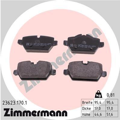 Bremsklötze ZIMMERMANN 23623.170.1