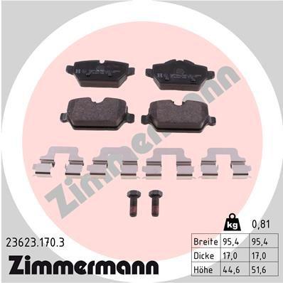Bremsbelagsatz Scheibenbremse ZIMMERMANN 23623.170.3