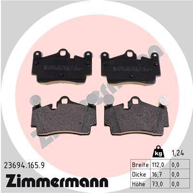 ZIMMERMANN Bremsbelagsatz, Scheibenbremse 23694.165.9