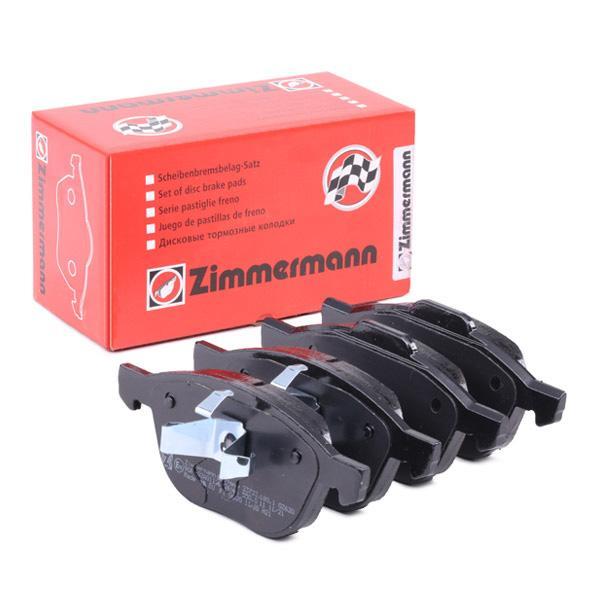 FORD FOCUS 2014 Bremsbelagsatz - Original ZIMMERMANN 23723.180.1 Höhe 1: 62mm, Höhe 2: 67mm, Breite 1: 155mm, Breite 2: 156mm, Dicke/Stärke: 18mm
