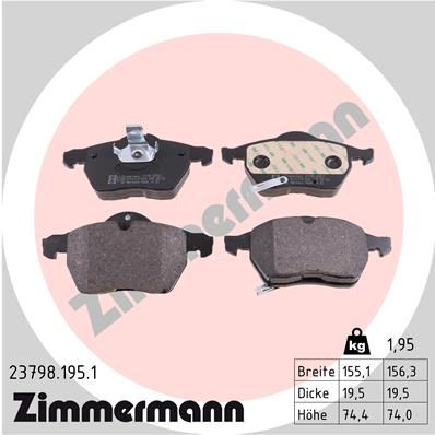 Bremsklötze ZIMMERMANN 23798.195.1