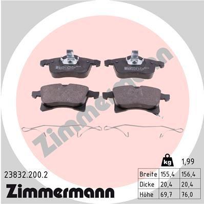 Bremsbelagsatz ZIMMERMANN 23832.200.2