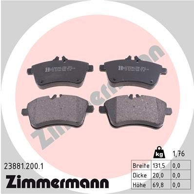 Bremsbelagsatz Scheibenbremse ZIMMERMANN 23881.200.1