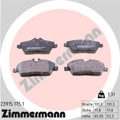 ZIMMERMANN Bremsbelagsatz, Scheibenbremse 23915.175.1