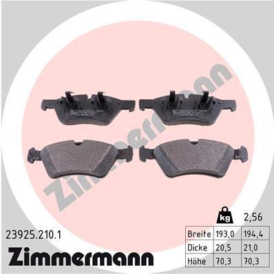 ZIMMERMANN Bremsbelagsatz, Scheibenbremse 23925.210.1