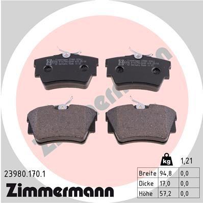 Bremsbeläge ZIMMERMANN 23980.170.1