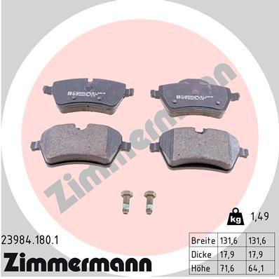 Bremsbelagsatz ZIMMERMANN 23984.180.1