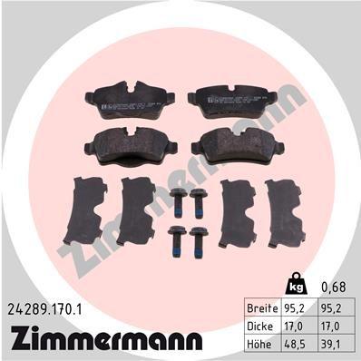 Original MINI Bremsbelagsatz 24289.170.1