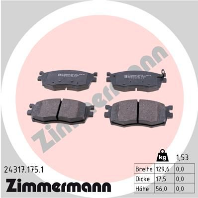 Bremsklötze ZIMMERMANN 24317.175.1