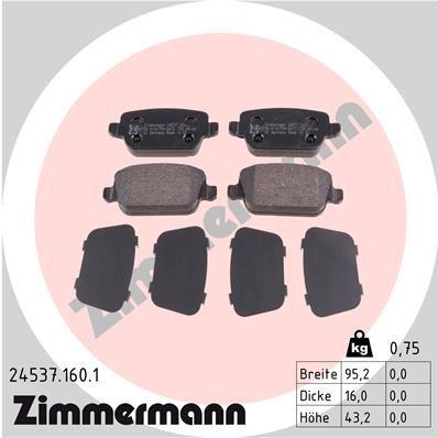Bremsbelagsatz ZIMMERMANN 24537.160.1