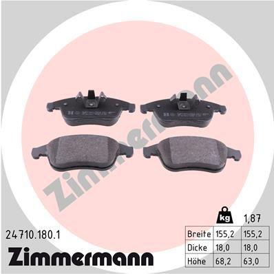 ZIMMERMANN Bremsbelagsatz, Scheibenbremse 24710.180.1