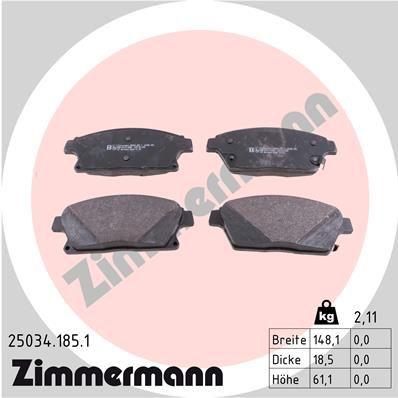 Bremsbeläge ZIMMERMANN 25034.185.1
