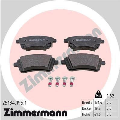 Bremsbelagsatz ZIMMERMANN 25184.195.1