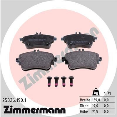 Bremsbelagsatz ZIMMERMANN 25326.190.1