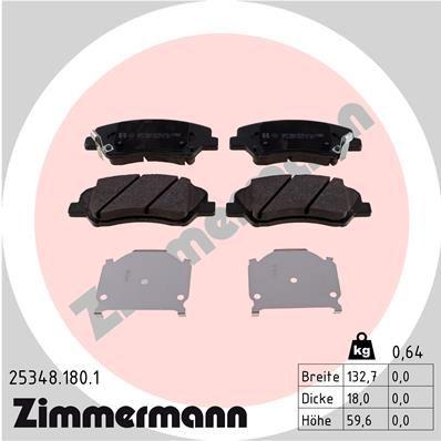 Bremsbeläge ZIMMERMANN 25348.180.1